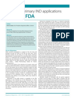 Managing Primary Ind Applications With the FDA