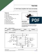 TDA7292 - Amplificador estereo 40W - datasheet hoja de datos.pdf