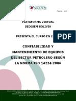 Informacion Curso Virtual Iso14224