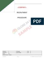 COMPANY Recruitment Procedure