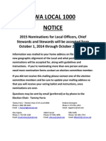 NOTICE - Nominations for CWA Local 1000