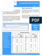 Consumer Price Index - Aug 14