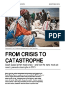 From Crisis to Catastrophe: South Sudan's man-made crisis – and how the world must act now to prevent catastrophe in 2015