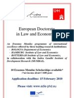 European Doctorate in Law and Economics