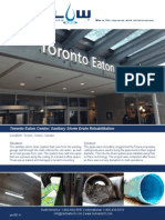 Toronto Eaton Centre Sanitary Storm Drain - Print Quality