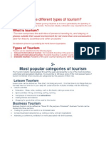 What Are the Different Types of Tourism
