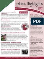 Hopkins Highlights-October 2014