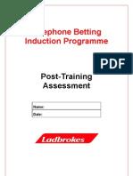 Post Training Assessment