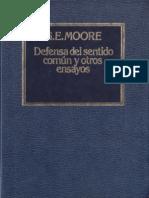G. E. Moore - Defensa del Sentido Común y otros ensayos.pdf