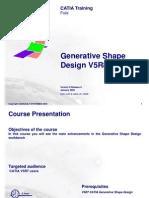Generative Shape Design V5R8 Update