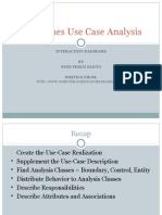 Guidelines Use Case Analysis Interaction Diagrams