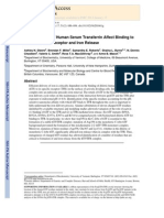Ionic Residues of Human Serum Transferrin Affetc Its Binding to TfR