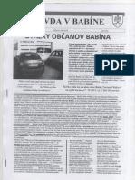 Otazky Obcanov Babina Na Vlzakovu...
