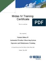 Vaisala Training Certificate