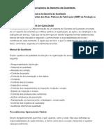 Como organizar um programa de Garantia da Qualidade.doc