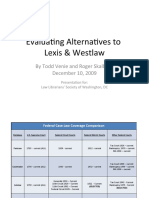 Evaluating Alternatives to Lexis and Westlaw - Slides