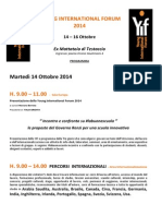 Programma provvisorio YIF2014