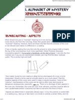 9 Runecasting Aspects