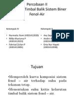 PPT Prak KF Sistem Biner Fenol Air