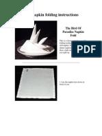 Bird of Paradise Napkin Fold