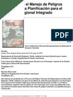 Manual Sobre El Manejo de Peligros Naturales en La Planificación Para El Desarrollo Regional Inte