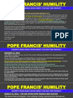 Pope Francis' Humility