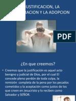 LA JUSTIFICACION, LA REGENERACION Y LA ADOPCION.pptx