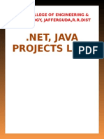 Projects list   .Net Java for CSE & IT.doc