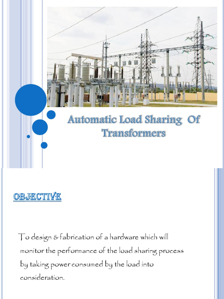 Ppt Automatic Load Sharing Of Transformers Transformer Power Supply