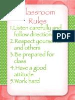 Class Rules Jana Cantos