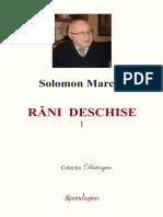 Rani Deschise Solomon Marcus