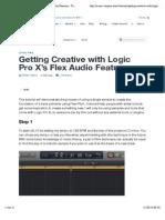 Getting Creative with Logic Pro X's Flex Audio Features - Tuts+ Music & Audio Tutorial.pdf