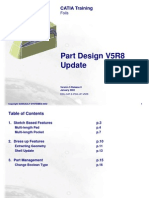 Part Design V5R8 Update