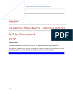 MIF Academic Regulations