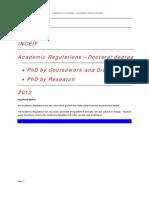 PHD Academic Regulations