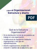 Teoría Organizacional, Estructura y Diseño.ppt
