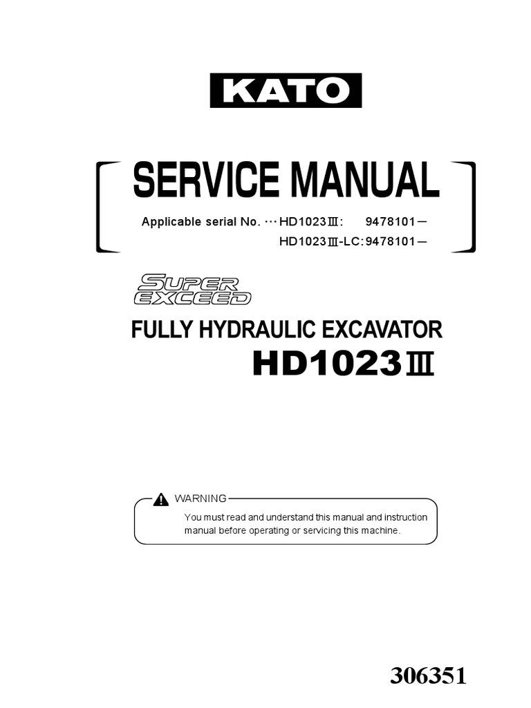 KATO HD23103 excavator workshop manualpdf Motor Oil – Kato Engine Diagram
