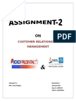 49780980 guuhComparision of CRM Strategy Between ICICI and NEW YORK LIFE INSURANCE