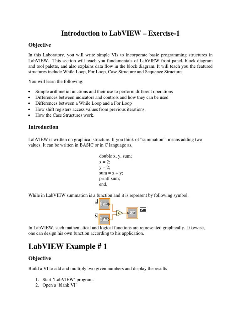 basic labview examples pdf   Control Flow   C (Programming