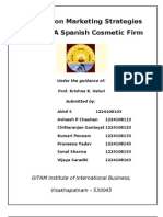 A Report on Marketing Strategies for RICE, A Spanish Cosmetic Firm