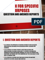 Question and Answer Reports