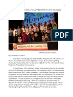 2014 Philippine Folk Arts Society's Rondalla Concert