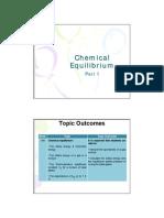 Chemical Equilibrium Notes