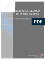 [Ben's Angels Group] the Negative Impacts of FDI on Host Countries