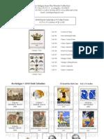 Ars Antigua Desk Calendars 2010