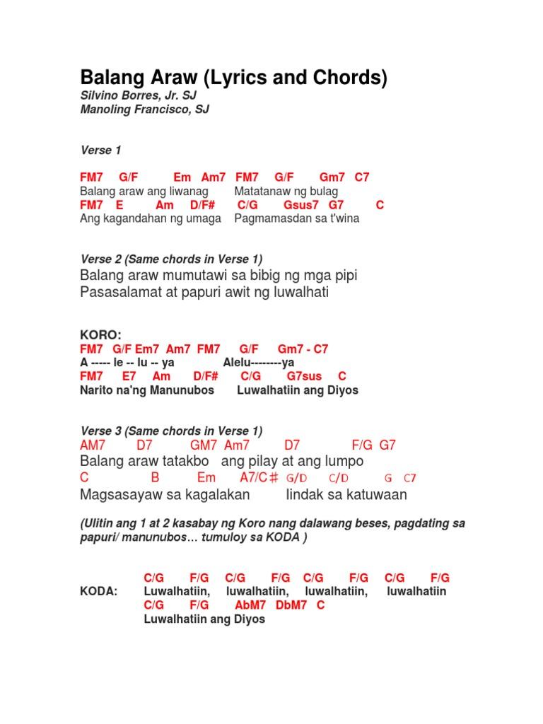 Pagdating ng araw lyrics