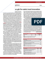 Investeringsfokus går fra vækst mod innovation