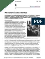 Articulo - Horacio Gonzalez - Paralelismos absorventes. Respuesta a editorial 1923 de La Nacion Pagina 12.pdf