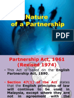 Nature of a Partnership