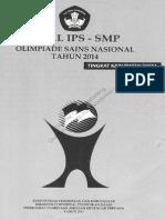 soal-osn-ips-smp-2014